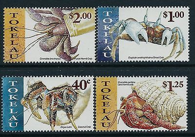 1999 Tokelau Pacific Crabs Set Of 4 Fine Mint Mnh/muh