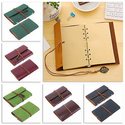 Classic Retro Notebook Leather Diary Note Book Journal Sketchbook + 5 Colours