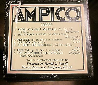 AMPICO Jumbo Player Piano Roll #100255 Classical Music Played by Alex Brailowsky