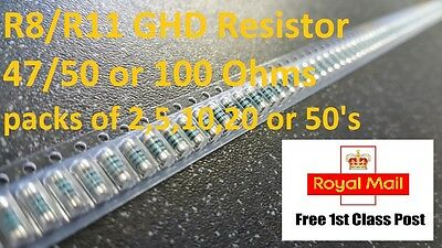 GHD Mk4 R8 / R11 Melf Resistor 100 or 50/47 Ohms packs of 2,5,10,20,50
