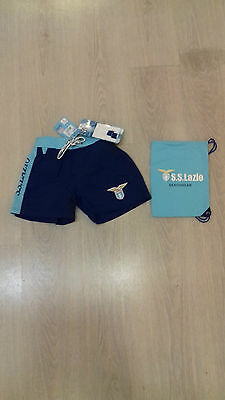 SS LAZIO AMISTAD OFFICIAL COSTUME BEACH SHORT bambino-kid MARE PISCINA COD.2051
