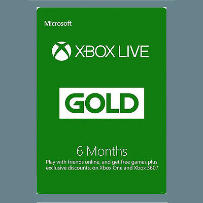 Microsoft Xbox One 360 6 Month Months Live Gold Membership Card - FAST DISPATCH