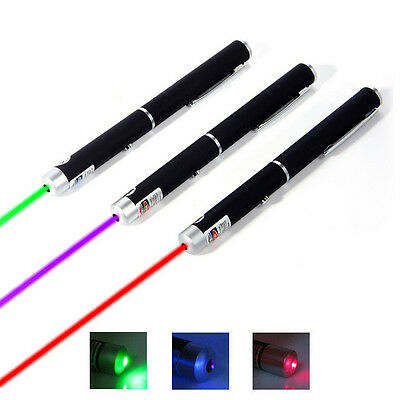 3PCS Green + Purple + Red Colour Laser Pointer Light Pen Beam Laser High Power