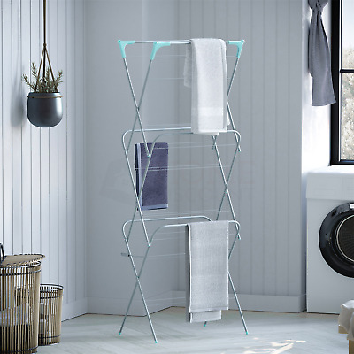 Clothes Airer 3 Tier Drying 14M Indoor Outdoor Laundry Rack New By Home Discount