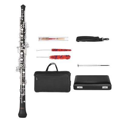 ammoon Professional C Key Oboe Semi-automatic Style with Reed Leather Case T4E4