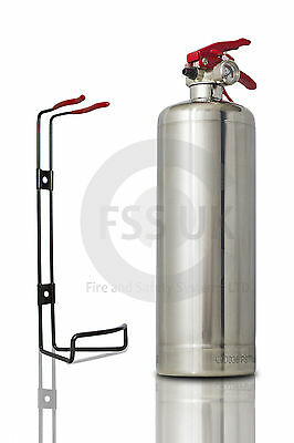 Premium 1 Kg Abc Powder Silver Chrome Fire Extinguisher Home Office Car Kitchen