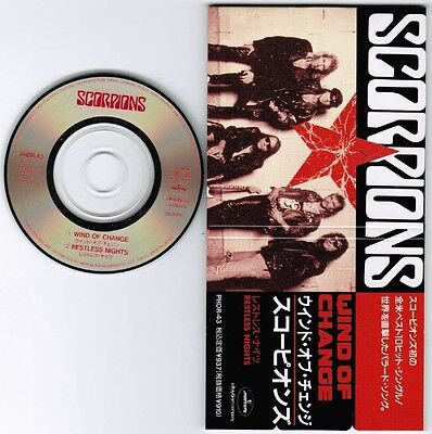 """SCORPIONS Wind Of Change /Restless Nights JAPAN 3"""" CD SINGLE PHDR-43 Unsnapped"""