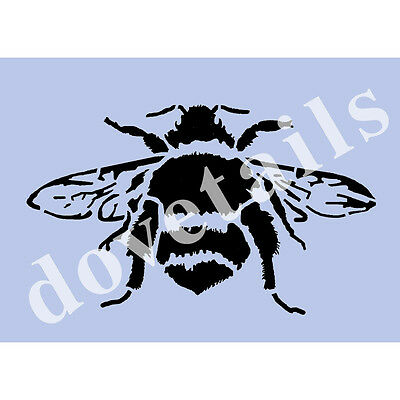 Big Bumble Bee Stencil Vintage A4 Mylar Shabby Chic Wall Furniture Fabric 003