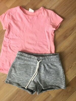 Next, Zara Girls Summer Outfit Age 4-5 Years Jersey Shorts, T Shirt