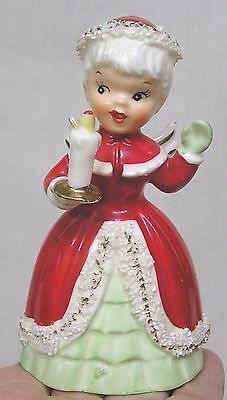 Vintage Christmas Napco Angel Bell Holds Candle S1694C NICE!