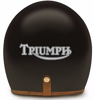 2x TRIUMPH MOTORBIKE HELMET or TANK STICKERS in SILVER METALLIC - great present!