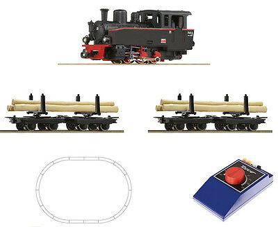 ROCO 31030 Startset H0e Feldbahn HOe 009 1:87 BR99 Steam loco & timber train