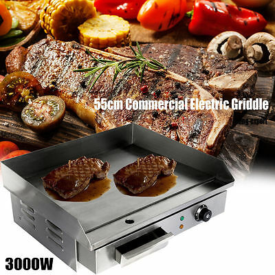 3kw 55cm Commercial Electric Griddle Hotplate Home Kitchen Hotp late Eu Plug