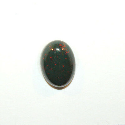 Bloodstone 10x14mm Cabochon with 4.5mm dome from India (12461)