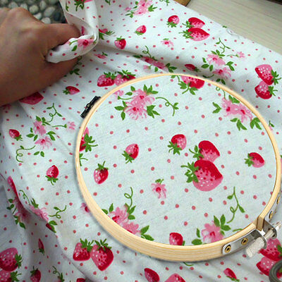 Wooden Cross Stitch Machine Embroidery Hoop 13cm/17cm/20cm/23cm/26cm/30cm UK