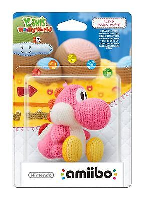 Pink Yarn Yoshi Amiibo Woolly World Nintendo Wii U/3DS GamePad New Sealed Neu
