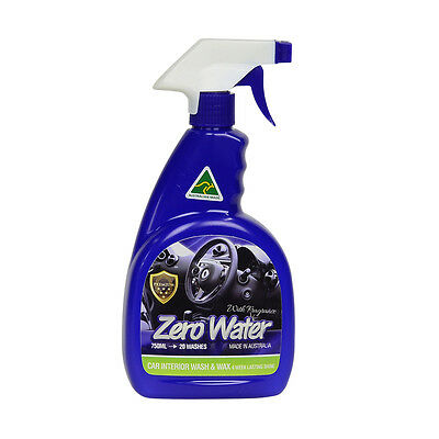 Zero Water Interior Car Wash and Wax Liquid Spray Australian Made with fragrence