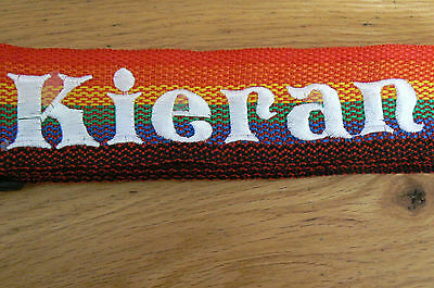 personalised luggage / suitcase straps . twin pack rainbow strap X2 Straps