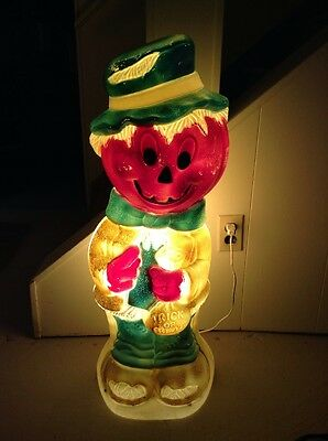 "Vintage Empire 34"" Pumpkin-Headed Scarecrow Lighted Halloween Blow Mold"