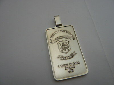 Rare Vintage Solid 999 Silver Ingot 1 Troy Ounce Lime Cricket Football Club Peru