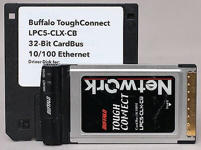Buffalo 'ToughConnect' 10/100 32bit CardBus Ethernet Adapter LPC5-CLX-CB