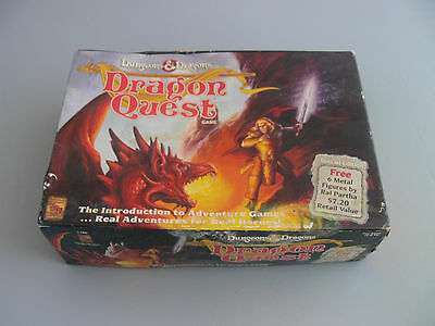 DUNGEONS & DRAGONS: DRAGON QUEST BOARD GAME BY TSR 1992 & Metal Figures