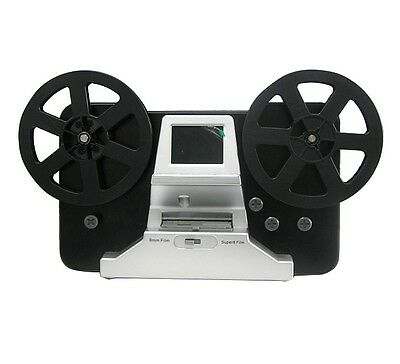 "Winait Film Scanner 5""&3"" Reel 8mm Super 8 Roll Digital Converter 1080P 2.4''LCD"