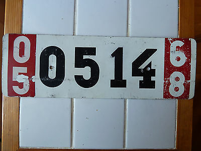 1968 FOREIGN License Plate #0514