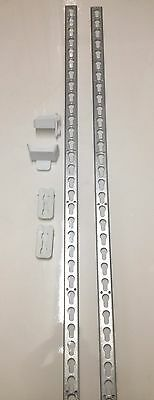 Metal keyhole tracks + cups + release adapter for show jumps 5ft