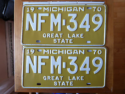 1970 Michigan License plate Pair/Set  #NFM-349......334g