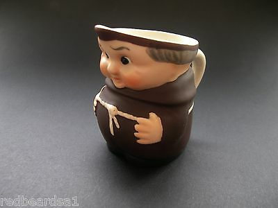 Goebel Vintage China Friar Tuck Miniature Milk Jug c1950s S747 W Germany 6cms
