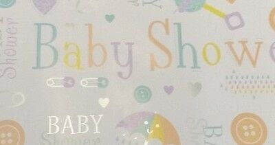 Unisex Pastel Colour Baby Shower Wrapping Paper 2 Sheets - 2 Tags