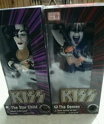 Kiss Soundalikes Set Of Two The Star Child & The Demon Figurines