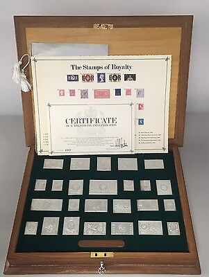 Stamps Of Royalty Silver 25 Set Box COA Bullion Portrait Of Royalty