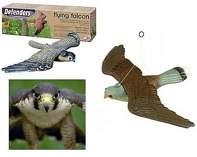 Deferender Flying Falcon Decoy Bird Of Prey Protects Garden Fish Rodent Repeller