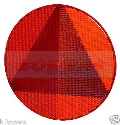 Hella Large Rear Red Round Stick On Adhesive Triangle Reflector Swift Caravan