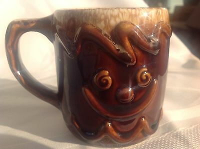Hull Gingerbread Man Child's Mug  Brown Drip  Excellent Condition  Made in USA