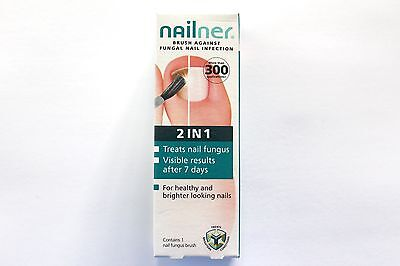 Nailner Brush Against Fungal Nail Infection 2 In 1 Contains 1 Nail Fungus Brush