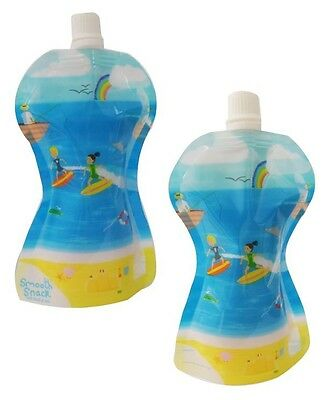 Fill n Squeeze Smooth Snack for Kids 10 x 150ml reusable pouches