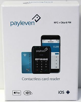 New Sealed Payleven Contactless Smart Card Reader NFC Chip&Pin Plus iOS Android