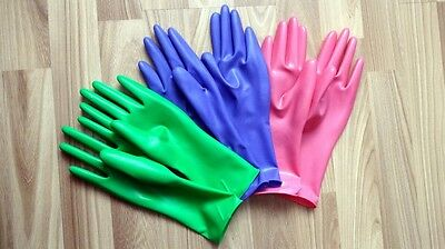 Latex gloves, size S, short