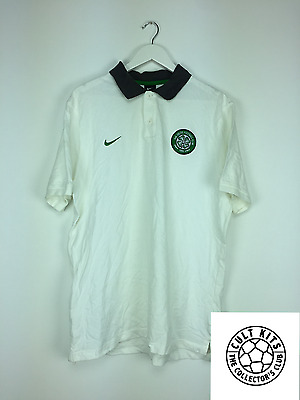CELTIC 00's White Nike Polo Shirt (XL) Soccer Jersey Football