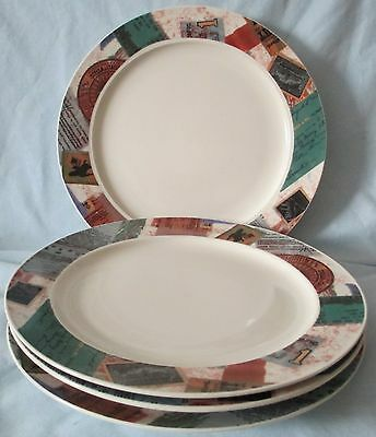 Majesticware Collage Set of 4 Dinner Plates