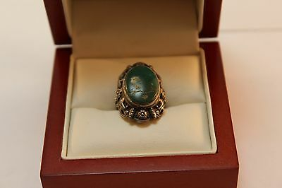 ☆Vintage ☆ Turquoise Ring ☆ .925 Sterling Silver ☆ SZ 4 1/2 ☆