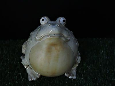 Large Glazed Ceramic Bull Frog / Toad Figurine In Excellent Condition