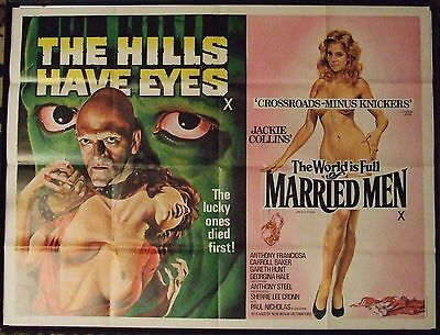 The Hills Have Eyes/the World Is Full Of Married Men, Vintage Quad Cinema Poster