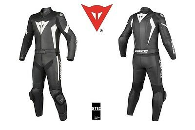 New - Dainese Crono Div 2-Piece Men Suit - Black Black White - Size Eu 54 Us 44
