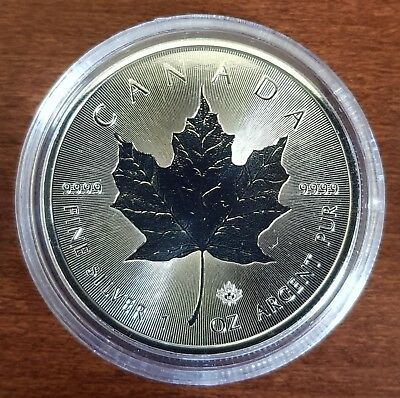 Canada - 5 Dollars ($5) - 2018 - Maple Leaf - Incuse (2018) - Silver 9999 - 1 Oz