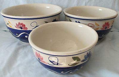 Tabletops Gallery Floral Dots Set of 3 Nesting Mixing Bowls