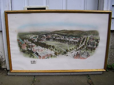 Richard Rummell DARTMOUTH COLLEGE Hand Colored Art Print Listed Artist Signed
